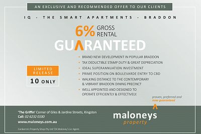 Maloney's Property Limited Release Braddon Investment Opportunity